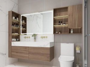 英皇卫浴图片 现代简约风格整体浴室柜效果图