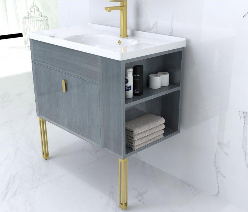 澳斯曼衛浴圖片印象萊茵  簡約風格浴室柜效果圖
