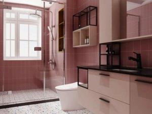 浪鲸卫浴效果图 粉红色卫浴间装修图片