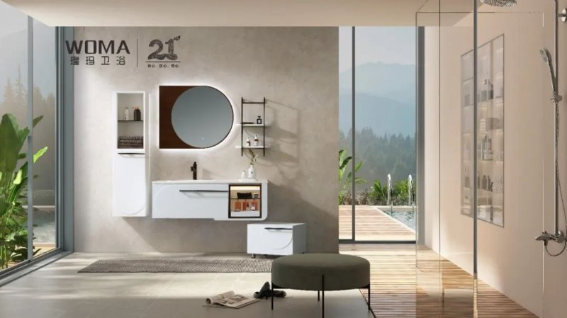 瑝玛卫浴效果图 WM系列浴室柜产品图片