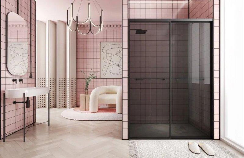 加枫卫浴效果图 极简系淋浴房产品图片