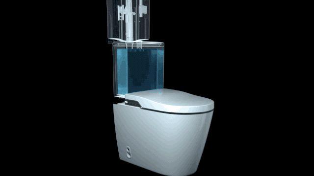 乐家卫浴效果图 一体式智能座厕产品图片_2