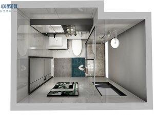 心海伽蓝卫浴效果图 小户型卫生间装修图片