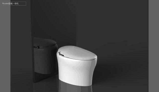 宜来卫浴效果图 如意系列智能马桶产品图片_2