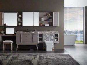 阿洛尼卫浴效果图 臻品系列浴室柜产品图片