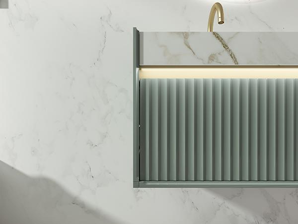心海伽蓝卫浴效果图 石涧系列浴室柜产品图片_2