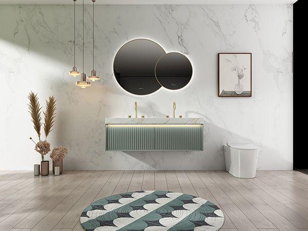 心海伽蓝卫浴效果图 石涧系列浴室柜产品图片_3