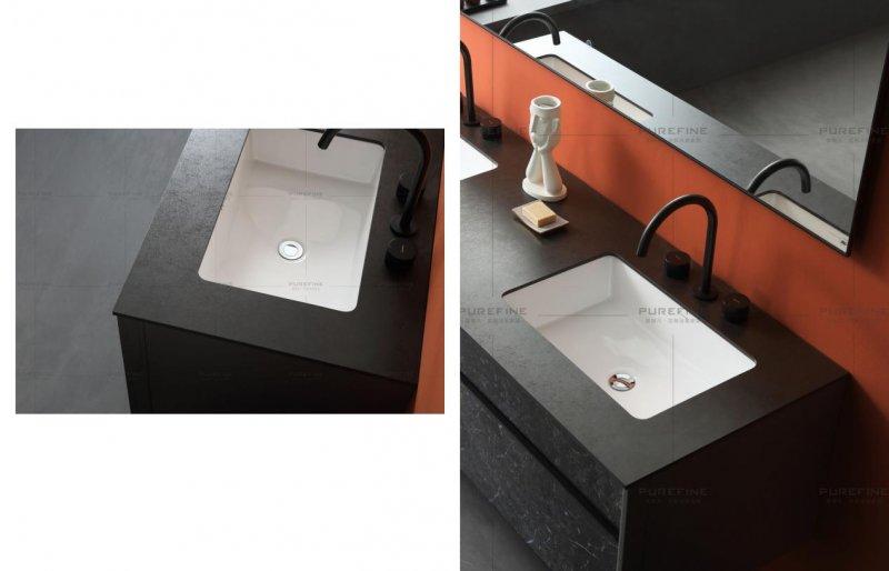 普瑞凡卫浴效果图 观川系列浴室柜产品图片_5