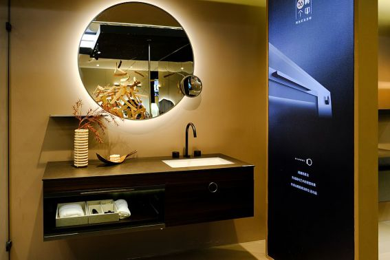 阿洛尼卫浴效果图 简影系列浴室柜产品图片_2