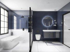 菲瑞卫浴效果图 琥珀系列浴室定制产品图片