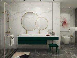 普瑞凡卫浴效果图 莫奈花园系列浴室柜产品图片