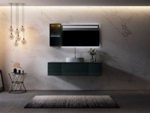 心海伽蓝卫浴效果图 琢系列浴室柜产品图片