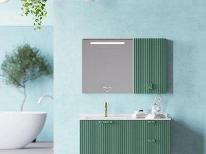 惠达卫浴效果图 时尚轻奢浴室柜产品图片