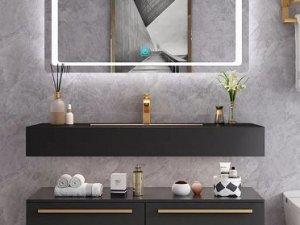 普瑞凡卫浴效果图 圣罗莎系列浴室柜产品图片