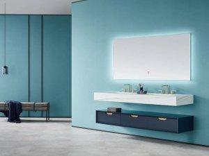 瑝玛卫浴效果图 莱茵系列浴室柜产品图片
