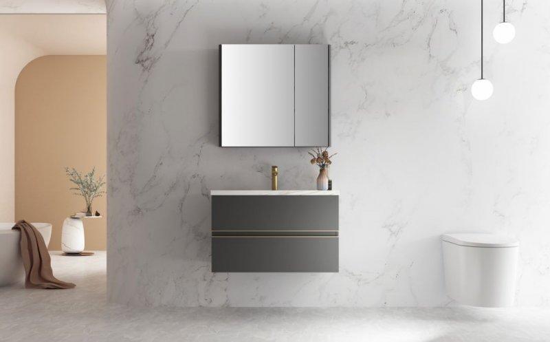 心海伽蓝浴室柜图片 新品微尘系列效果图_1