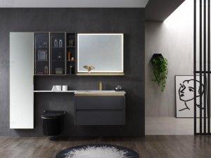 普瑞凡卫浴效果图 都灵系列浴室柜产品图片