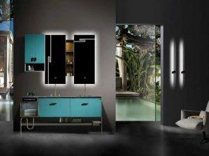 欧凯莎卫浴效果图 南爵系列浴室柜产品图片